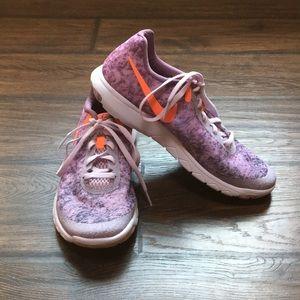 Nike Flex Experience Run shoes, purple, size 7.5